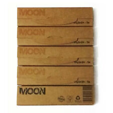 5 booklets Moon Unbleached Tobacco King Size Slim Papers with paper filter Tips