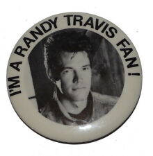 Vintage Randy Travis Country Music Pinback Button 2
