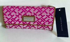 NEW! TOMMY HILFIGER PINK CHECKBOOK CLUTCH PURSE WALLET SALE