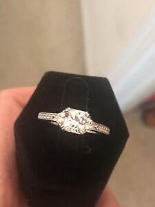 QVC Epiphany Diamonique Sterling Silver Ring Size 9