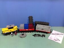 (O5258.6) playmobil Train marchandises cargo ref 5258 + wagons ref 4126 4010