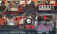 FAO Schwarz 30-Piece Motorized Train Set, Red Christmas tree decor NIB