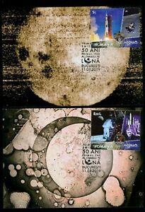 2019 Apollo 11 - 50th Anniv.,Armstrong,Space,Oberth,von Braun,Romania,maxi cards