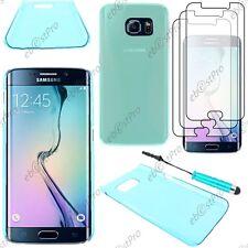 Coque Housse Etui Slim Bleu Samsung Galaxy S6 G920F Mini Stylet 3 Film écran