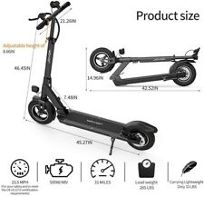 "Joyor X5S Electric Scooter - 500W Motor 10"" Aire Tires Up to 40.3 Miles."
