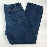 Rustler Denim Jeans Mens 40X32 Blue Straight Leg Regular Fit Medium Wash Zip Up