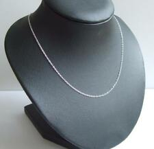 New 925 Sterling Silver Trace Chain 20 Inch 1.1mm Trace Link & Velvet Gift Bag