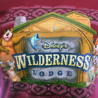 "Disney Men's T-shirt ""Wilderness Lodge"" Mickey and Friends -Cabin-Camping Size:M"