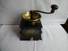 More details for  antique kenrick & sons cast iron & brass coffee mill grinder weight 2.2 kilos