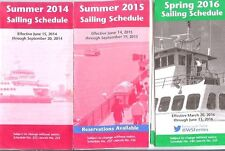 3 issues Washington State Ferries timetables Seattle Friday Harbor Bremerton