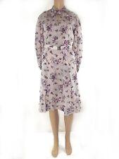 vestito abito donna ginocchio floreale a ruota vintage anni 70 taglia l large