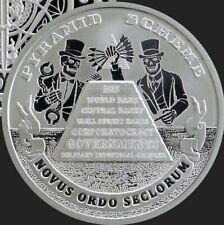 1 oz 2019 Pyramid Scheme BU - Death of the Dollar #19 Silver Shield 999 Mason