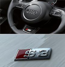 S3 Steering Wheel Sticker Emblem Badge Audi CHROME A5 RS5 S LINE RED FACELIFT UK