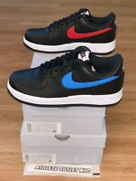 New Nike Air Force 1 Low Black Red Blue Men's Size 8.5-9 Sneakers CT2816-001