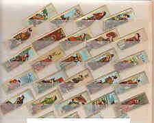 Série complète de 24  Bagues de Cigare  Mercator  Estampe japonaise