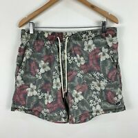 Industrie Mens Board Shorts Size Large Floral Multicoloured Elastic Drawstring