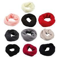Women Men Knitted Circle Wool Scarf Girls Shawl Wrap Winter Warm Collar Scarf