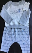 Mothercare Peter Rabbit Long Sleeve Top & Leggings / Trousers Set Age 1-3 Months