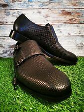 Massimo dutti Mens Monk Strap Leather Shoes. New Size 11. No Box