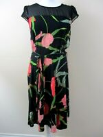 Dorothy Perkins size 14 skater style dress bnwt RRP £30 black large tulip print