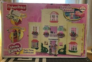 NEW Loving Family Twin Time Doll House Fisher Price BONUS Pieces KIDS BEDROOM