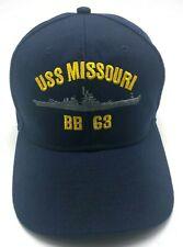 USS MISSOURI / BB 63 blue adjustable cap / hat