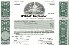 BellSouth Corporation > 1987 old stock certificate share