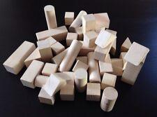 Wooden Construction Building Blocks Bricks Children's Toys Pieces Decoupage /K02