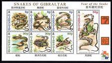 Gibraltar 2001 Snakes Miniature Sheet SG MS967 Unmounted Mint