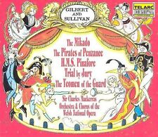 The Mikado/Pirates of Penzance/HMS Pinafore/Trial by Jury/The Yeomen of the Guard by Gilbert & Sullivan (CD, Oct-1999, 5 Discs, Telarc (Label))