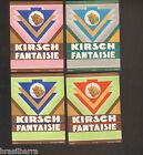 4 ETIQUETTES ANCIENNES DE KIRSCH