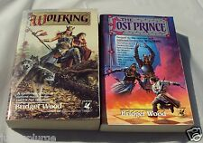 Lot of 2 Books Book by Bridget Wood WOLFKING THE LOST PRINCE Fantasy LIKE NEW