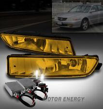 02-03 ACURA TL BUMPER DRIVING FOG LIGHTS LAMPS YELLOW LENS W/50W 6000K HID PAIR