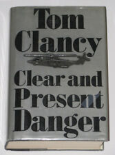 TOM CLANCY Hand Signed CLEAR & PRESENT DANGER * BUY GENUINE *  PSA JSA