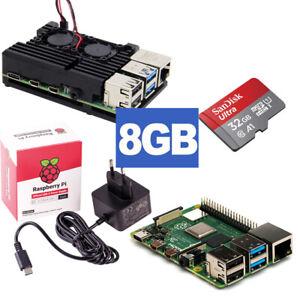 Raspberry Pi 4 RPi4 8GB RAM Bundle 32GB + Kühlergehäuse mit Lüfter