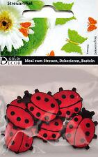 Streuartikel 6 Stück Beutel 🌷 Marienkäfer 🌷 Textil Streuen Dekorieren Basteln