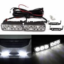 2 x Super Bright 3 LED Daylight Running Light Daytime Driving Light DRL White AU