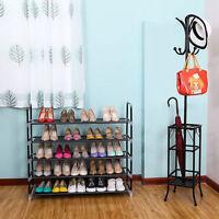 New 5/10 Tier Layer Storage Organizer Cabinet Shelf Space Saving Shoe Tower Rack