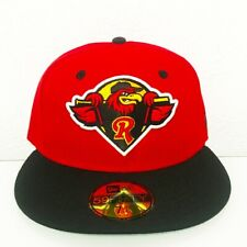 NWT New Era Rochester Red Wings MiLB 59Fifty Fitted Hat Black Red 7 1/4