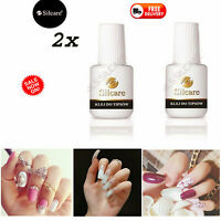 2x Silcare Brush On False Nail Tip Adhesive Glue 7.5g Super Strong *UK SELLER*