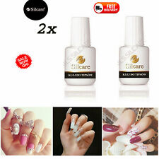 2X 7.5g Nail Glue W/ Applicator Clear Strong Adhesive Acrylic False Nail Tip Art