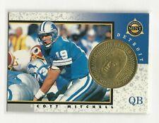 Detroit Lions Scott Mitchell 1997 Pinnacle Mint Die-Cut w/Brass Coin