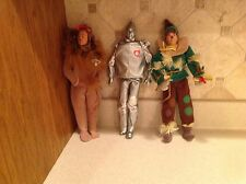 Vintage 1975 Wizard of Oz Dolls Action Figures Mattel Tin Man Scarecrow Lion