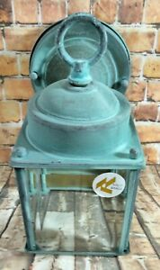 Porch Sconce Wall Light Vintage 90s  Cottage Farmhouse Arts & Crafts Solid Brass