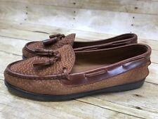 Women Driving Mocassin Loafer Brown Spotted Leather J.M. Cueros Argentina 40/9.5