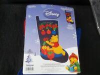 Janlynn Disney Felt Applique Christmas Stocking Kit Winnie The Pooh Started