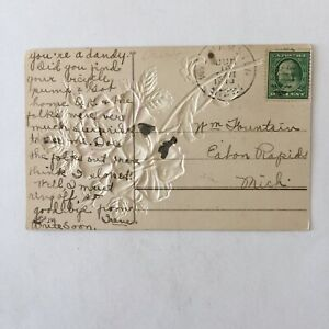 Best Wishes Postmark 1910 Posted Postcard