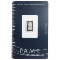 1 Gram Pamp Suisse Platinum Bar .9995 Fine Fortuna In Assay