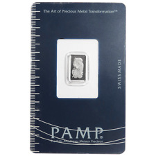 1 Gram Pamp Suisse Platinum Bar .9995 Fine Fortuna In Assay