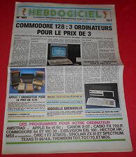 Magazine Hebdogiciel [n°101 20 Sep 85] NO TILT Oric MSX Atari Commodore 128 *JRF